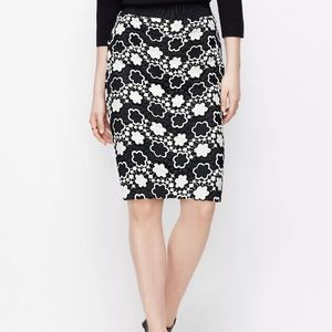 Ann Taylor Floral Embroidered Pencil Skirt NWT
